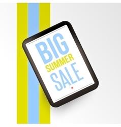 Realistic mobile devises with Big sale inscription vector image vector image