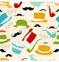 Retro Party seamless background vector image vector image