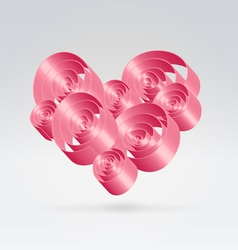 Romance ribbons bouquet vector image
