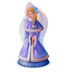 russian pretty girl snow maiden vector image