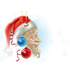 santa christmas vector image vector image