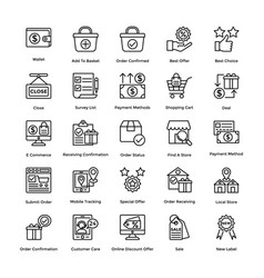 Shopping colored icons set 5 vector