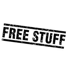 Square grunge black free stuff stamp vector