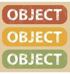Vintage object stamp set vector