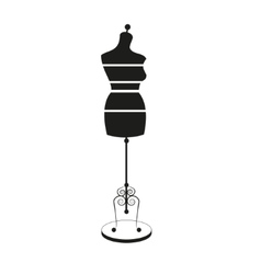 vintage tailors mannequin with size measurements vector image