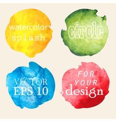 Watercolor hand painted circles vector image