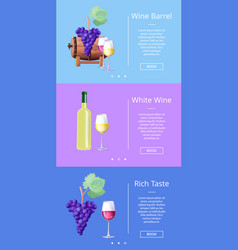 Wine barrel and rich taste vector