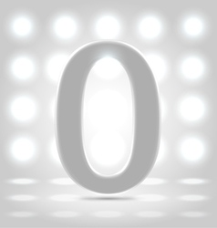 0 over back lit background vector image vector image