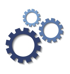 Set of mechanical cogs icons vector