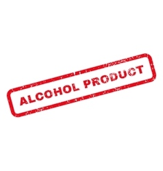 Alcohol product text rubber stamp vector