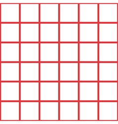 Red white grid chess board background vector