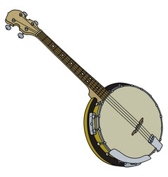 Four strings banjo vector image