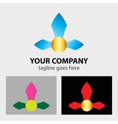 Arrows logo for corporation business sign vector