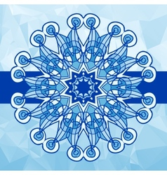 Blue colour vintage pattern Hand drawn abstract vector image