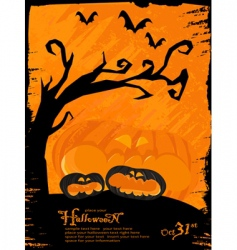 Grunge halloween theme vector