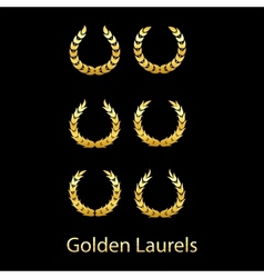 Golden laurels vector