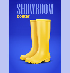 Advertising poster in trendy color vector