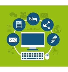 Blog template design vector