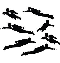 businessman super fly vector image