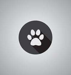 Cat footprint symbol flat vector
