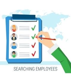 concept employee search vector image vector image