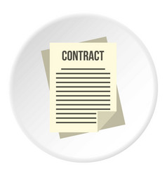 Contract icon circle vector