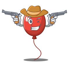 Cowboy balloon character cartoon style vector