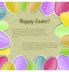 Decorative card with colorful Easter eggs eps10 vector image