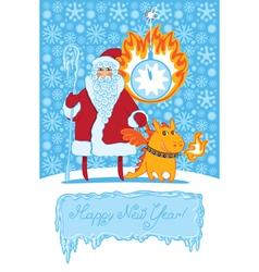 dragon Santa vector image vector image