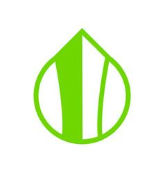 Eco friendly building abstract symbol vector