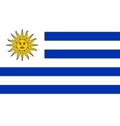 Flag of uruguay in correct proportions and colors vector