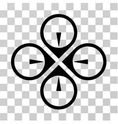 fly drone icon vector image