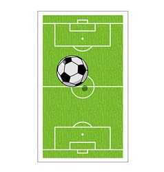 Football field and ball Soccer game Game ball high vector image