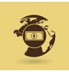 Global economy isolated icon design vector