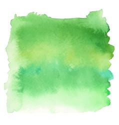 green color watercolor hand drawn gradient banner vector image