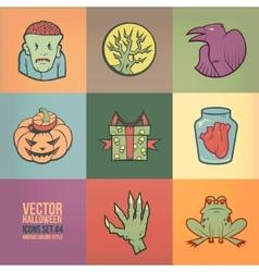 Halloween Icons Set vector image