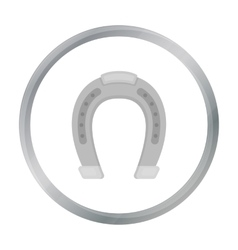 Horseshoe icon in cartoon style isolated on white vector