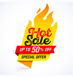 hot sale banner special offer up to 50 off vector image