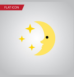 Isolated midnight flat icon nighttime vector