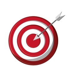 Isolated target and arrow design vector