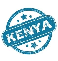Kenya round stamp vector