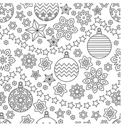new year hand drawn outline festive seamless vector image vector image
