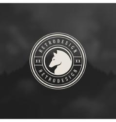 Retro horse vintage insignia or logotype vector
