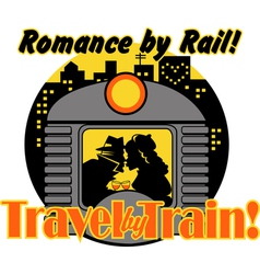 Romance by rail vector image vector image