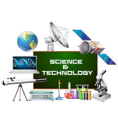 Science and technology equipments vector