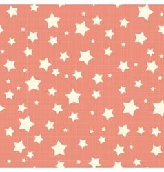 Seamless stars pattern vector image