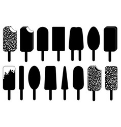 Set of different ice cream lolly vector