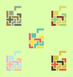 Tetris pieces collection vector