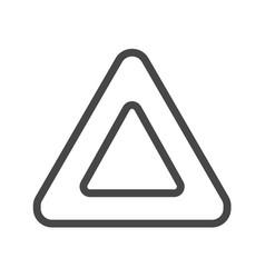 Triangle thin line icon vector