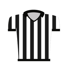 Shirt uniform referee icon vector